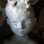 Bianca, prima prova piccolo busto di ceramica