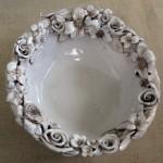 Ciotola in ceramica con fiori