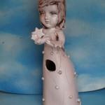 Sculpture doll, ceramic lantern