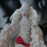 Bocca di rosa, bambola per collezionisti in ceramica,OOAK Collectible Ceramic Art Doll