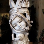 La torre dell'attesa, the tower of waiting, ceramic sculpture
