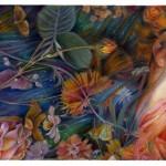 Ofelia, illustrazione…Sull'onda calma e nera dove dormono le stelle  La bianca Ofelia ondeggia come un grande giglio,
