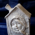 Alice in wonderland, ceramic sculpture, art pottery