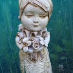 I fiori selvaggi, The wilder flowers… ceramic sculpture,art doll.