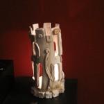 Ceramic lantern, scultura lanterna in ceramica