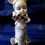 Miss mouse,ceramic figure,art doll