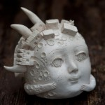 la città della luna, The moon, ceramic sculpture
