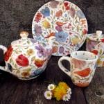 pettirosso, linea di ceramiche decorate a mano, little bird